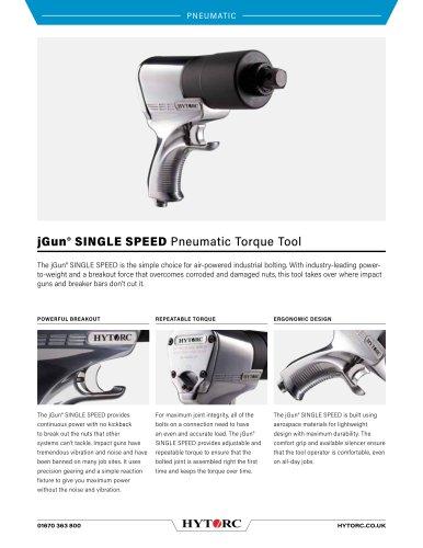 jGun® SINGLE SPEED Pneumatic Torque Tool