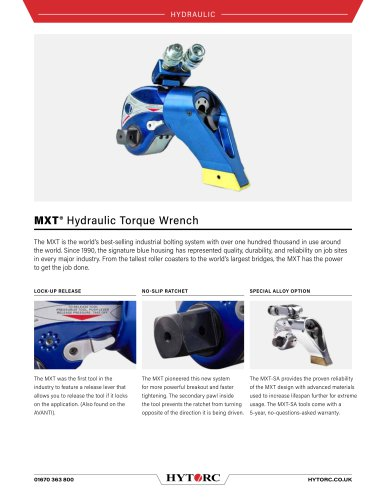 MXT Square Drive Hydraulic Torque Wrench