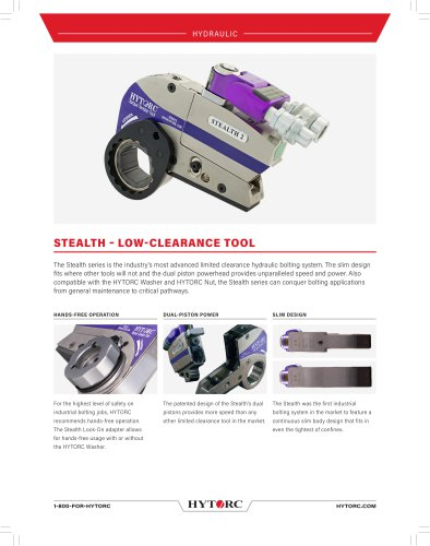STEALTH? Limited Clearance Hydraulic Torque Wrench
