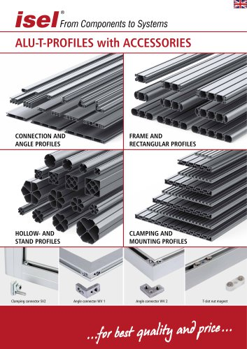 "Partial catalogue ""Aluminium T-Profiles with accessories"""