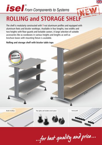 Rolling and StoRage Shelf
