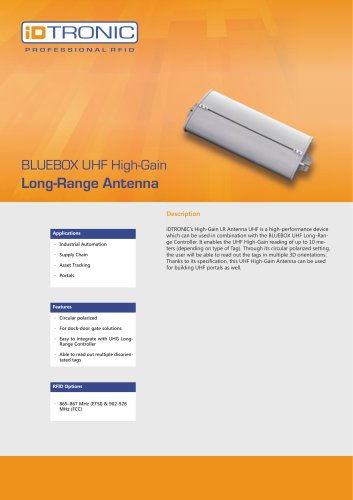 RFID Antennas   High-Gain LR Antenna