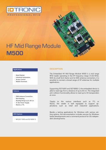 RFID Embedded Modules   HF Mid-Range M500