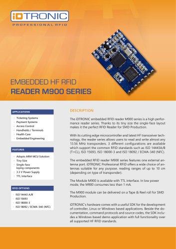 RFID Embedded Modules   HF Module M900 Series
