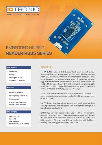 RFID Embedded Modules   HF Reader R835 Series
