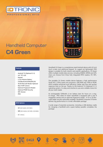 RFID Handheld Computers   C4 Green