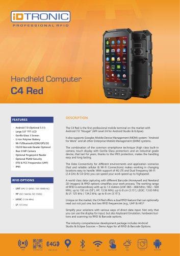 RFID Handheld Computers   C4 Red