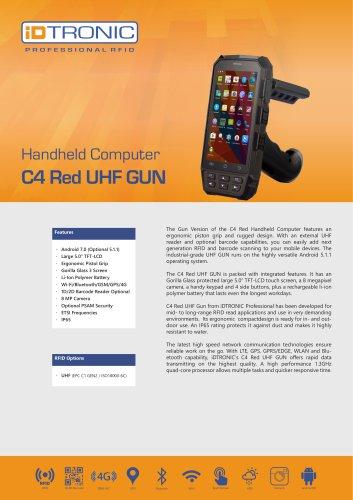 RFID Handheld Computers   C4 Red UHF GUN