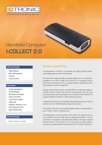 RFID Handheld Computers   Datacollector I-COLLECT 2.0