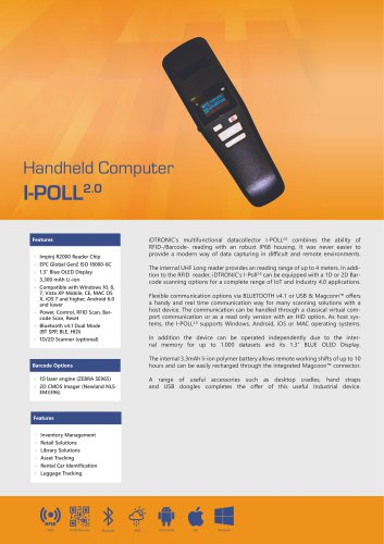 RFID Handheld Computers   Datacollector I-POLL 2.0