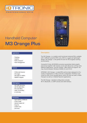 RFID Handheld Computers   M3 Orange Plus