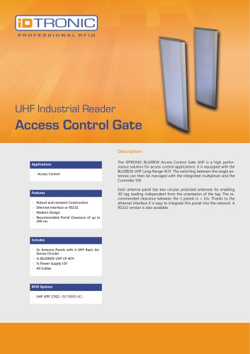 RFID Industrial Readers   Access Control Gate
