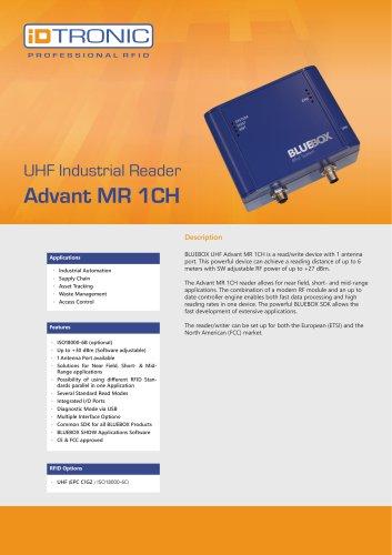 RFID Industrial Readers   BLUEBOX Advant MR 1CH