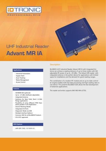 RFID Industrial Readers   BLUEBOX Advant MR IA