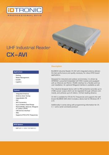 RFID Industrial Readers   BLUEBOX CX-AVI