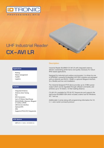RFID Industrial Readers   BLUEBOX CX-AVI LR