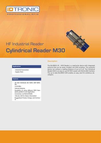 RFID Industrial Readers   BLUEBOX Cylindrical Reader M30 HF