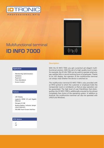 RFID Readers   Multifunctional Terminal ID Info 7000