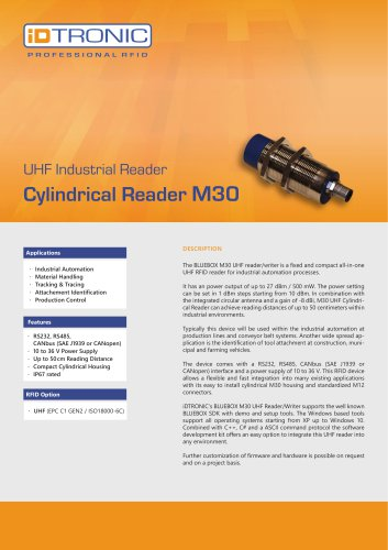 UHF Industrial Reader