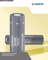 LEAFLET - Rechargeable Ni-MH Cylindrical Cells