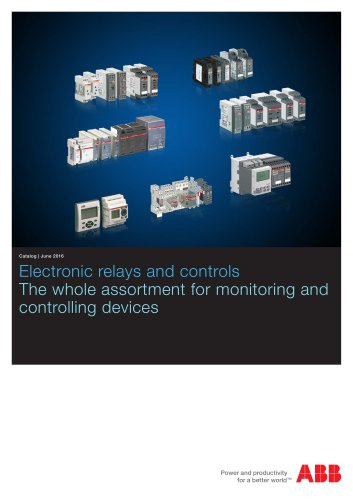 Catalog 2016 - Electronic Products and Relays in low quality resolution