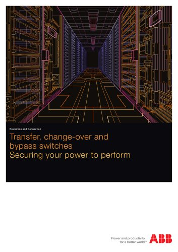 Change-over, bypass and transfer switches. Catalogue OTC1GB