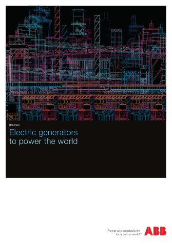 Electric generators to power the world