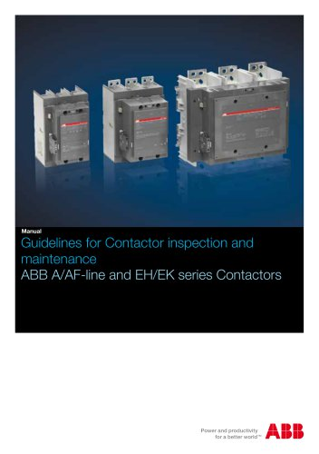 Guidelines for contactor inspection and maintenance