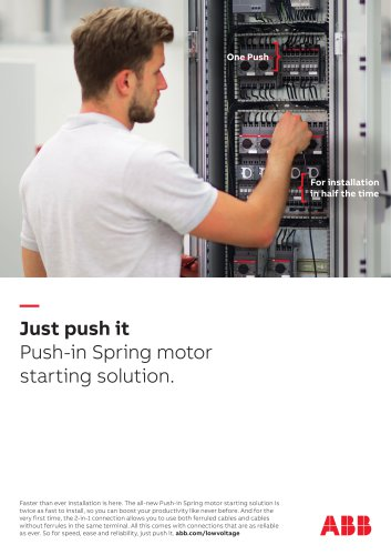 Push-in Spring fast wiring advertisement