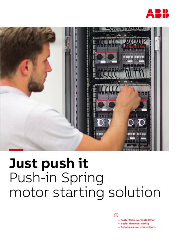 Push-in Spring motor starting solution