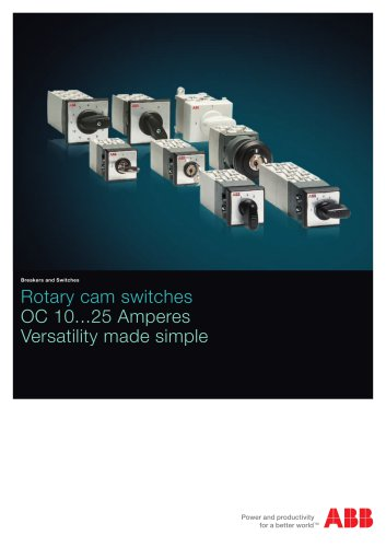 Rotary cam switches OC10...25
