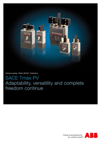 SACE Tmax PV - Adaptability, versatility and complete
