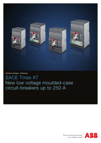 SACE Tmax XT - New low voltage moulded-case circuit-breakers up to 250 A
