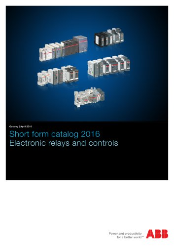 Short form catalog - Electronic relays and controls