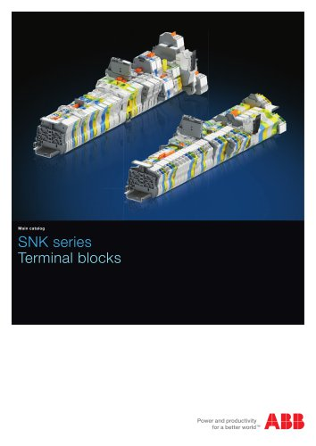 SNK terminal blocks global catalog