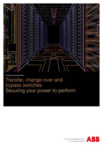 Transfer, change-over and bypass switches