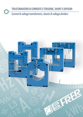 Current & voltage transformers, shunts & voltage dividers