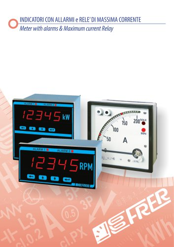 METER WITH ALARMS