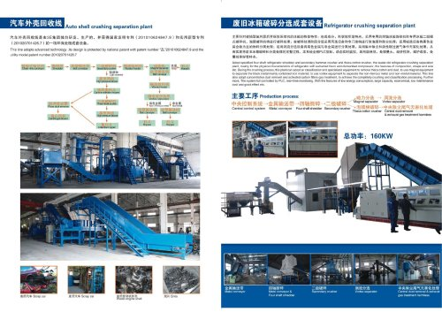 auto shell crushing separation plant