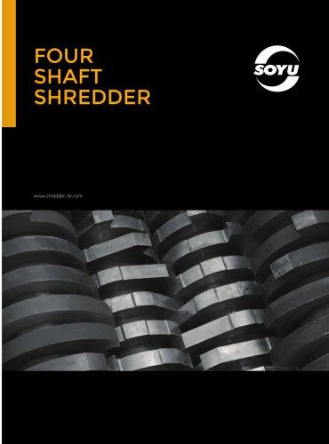 four shaft shredder