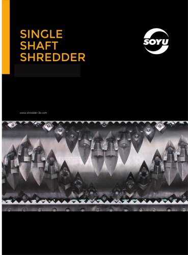 Single shaft shredder