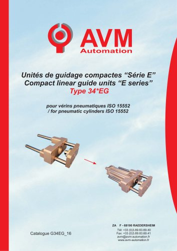 Compact guide unit 34*EG series