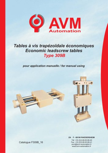 Economical manual table Type 309B