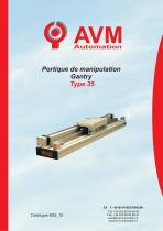 Gantry for handling Type 35 - Option: inter. position
