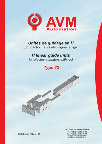 H linear guide units for electric actuators with rod Type 32