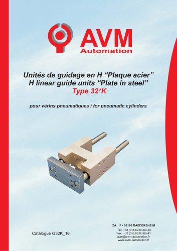 "H linear guide units ""Plate in steel"" Type 32*K"