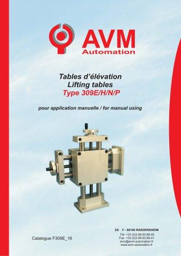 Lifting tables Type 309E/H/N/P