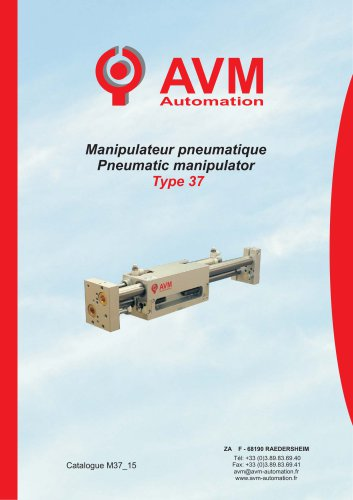 Linear pneumatic manipulator Type 37