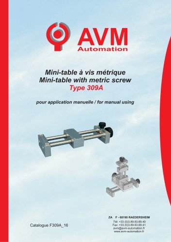 Mini-table with metric screwType 309A