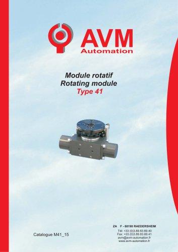 Pneumatic rotating module Type 41
